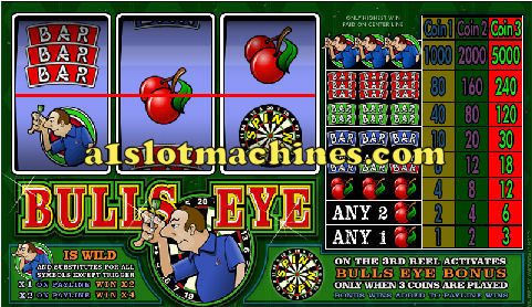 1 Line Reel Slot Machine - Bulls Eye