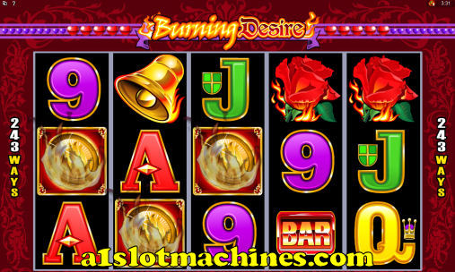 Burning Design Online Slot Machine Game Feature Trigger