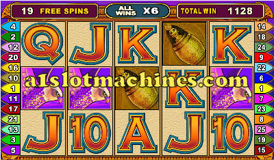 Free Spin Feature on Isis Slots
