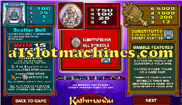 Slot Machine - Kathmandu Free Games Feature
