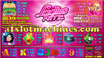 Slot Machine - Ladies Nite Bonus Slots