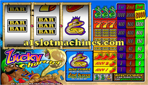 1 Line Reel Slot Machine - Lucky Charmer