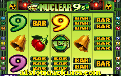 Nuclear 9s Power Spins Rolling Reels Feature