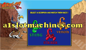 Sizzling Scorpions Video Slots - Bonus Feature