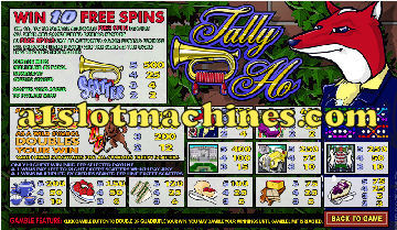 Slot Machine - Tally Ho Bonus Slots
