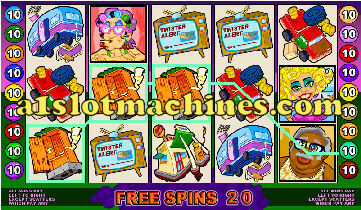 Twister Video Slots - Free Spins Bonus