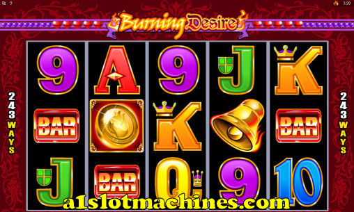 Burning Design Online Slot Machine Game