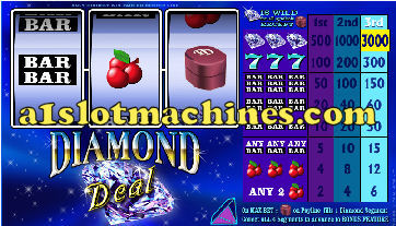 1 Line Reel Slot Machine - Diamond Deal
