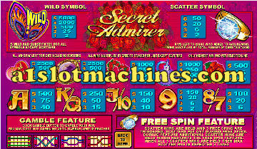 Slot Machine - Secret Admirer Bonus Slots
