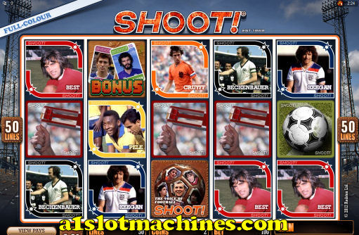 Click here to play Shoot! Magazine Slots game at Jackpot City casino.