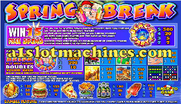 Slot Machine - Spring Break Bonus Slots