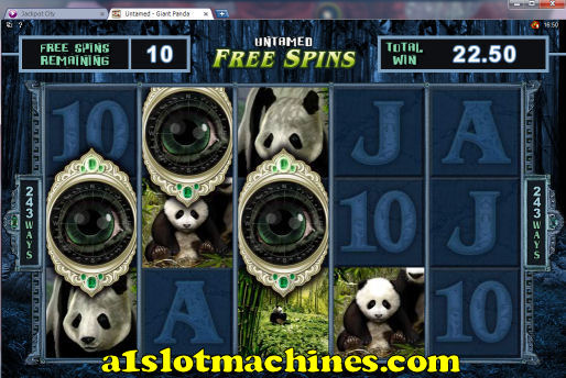 Untamed Giant Panda Slot Machine Free Spins